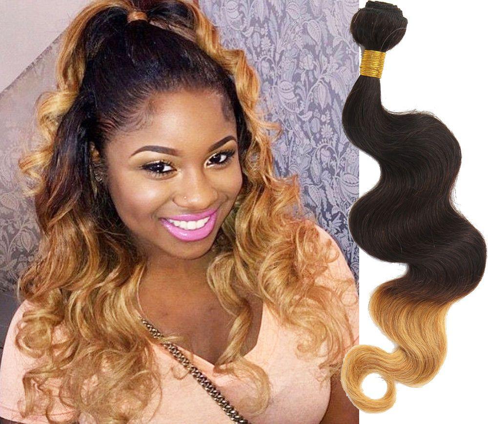 Hot Us Brazilian Human Hair Extension12 26ombre Hair 1b427 Body