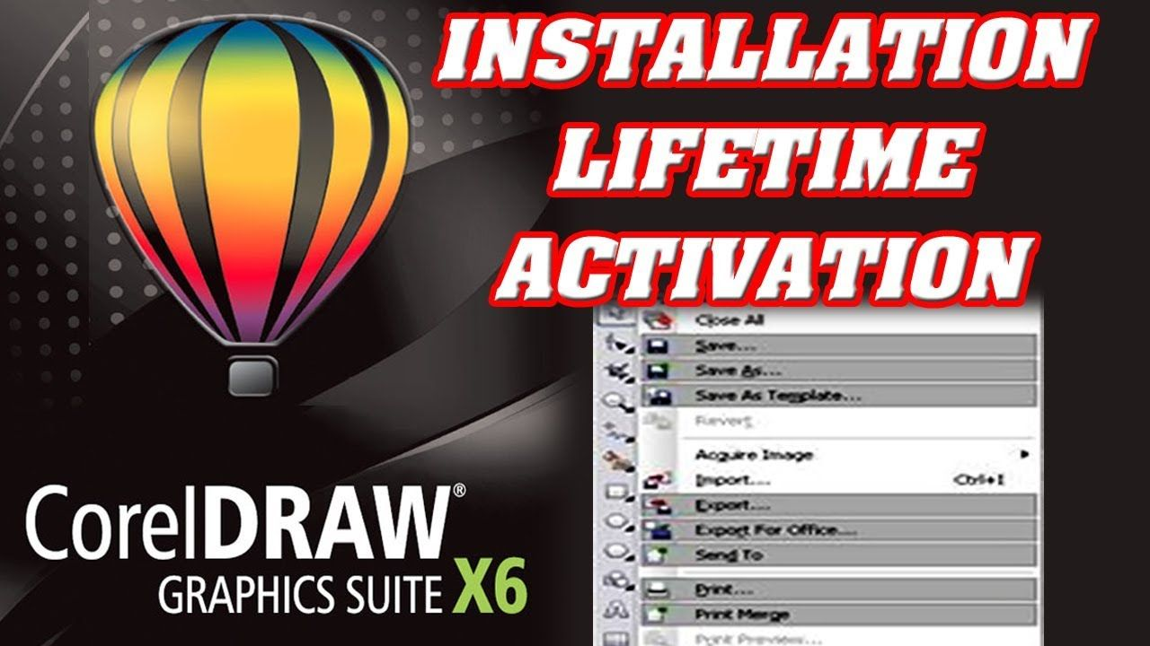How to fix Corel Draw X6, can't Save, Export, Print, Copy