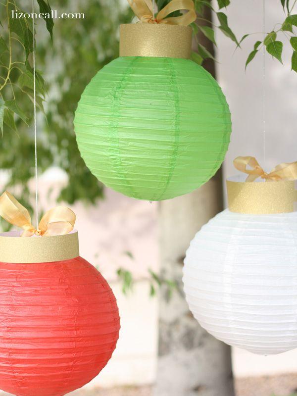 Paper Lantern Christmas Ornaments Paper LanternsChristmas DiyChristmas