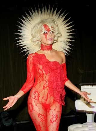 Lady Gaga Red Dress - Qi Dress