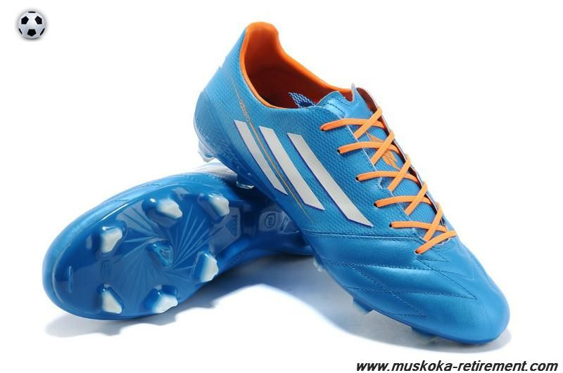 2014 World Cup Soccer Shoes. Find this Pin and more on Mercurial 9 by  istvanbenko. Authentic TRX FG Leather (Blue White Orange) Adidas F50 AdiZero