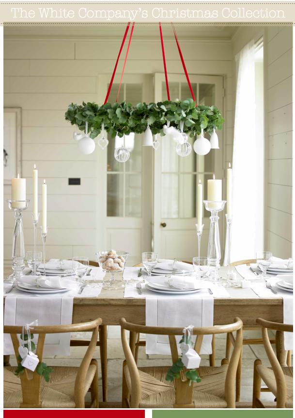 The White Company S Christmas Collection Silver Christmas Decorations Christmas Table Settings Christmas Dining Room