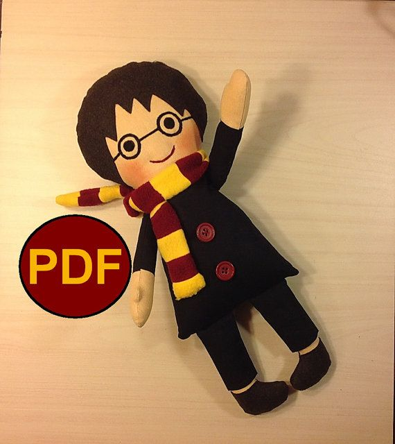 PDF doll pattern Harry Potter DIY Pattern tutorial doll sewing ...