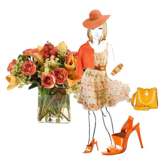 """Dresses for April.."" by marnie-etter ❤ liked on Polyvore featuring Distinctive Designs, Oscar de la Renta, Betmar, Sportmax, Heron Preston, Modalu, Hermès, fashionforall and dressesforapril"