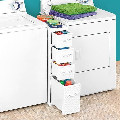 Amazon.com: Wicker Laundry Organizer Between Washer Dryer Drawers