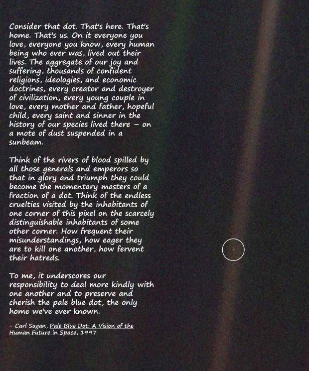 Carl Sagan Every Little Thing Pale Blue Dot Carl Sagan Dots