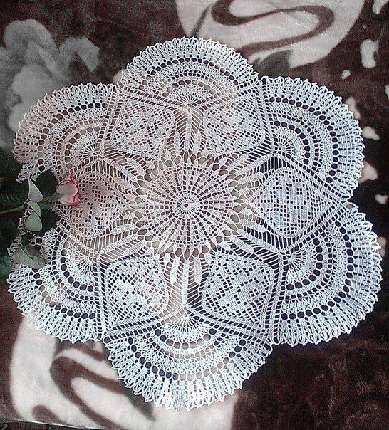 Delicadezas en crochet gabriela centro de mesa en - Centros de mesa de ganchillo ...