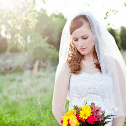 A timeless bridal session with fields, flowers, and bits of the city.