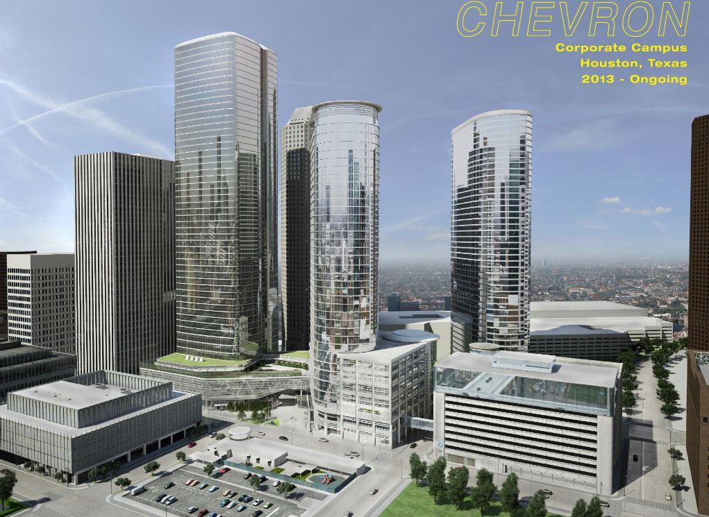 Chevron corporate campus downtown houston development