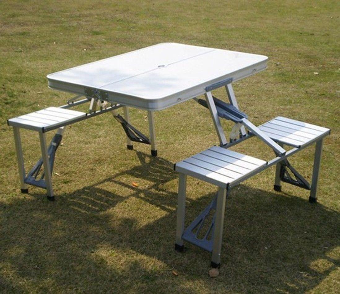 Brilliant Aluminium Folding Camping Table And Chairs Campingtable Inzonedesignstudio Interior Chair Design Inzonedesignstudiocom