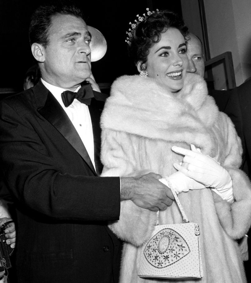 Elizabeth Taylor with her husband Mike Todd