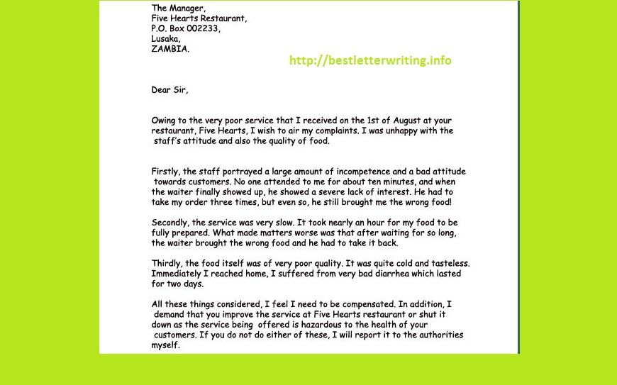 Formal Letter Sample studiess Pinterest Letter sample - copy examples letter of complaint to a business