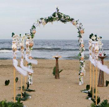 Arco matrimoniale spiaggia