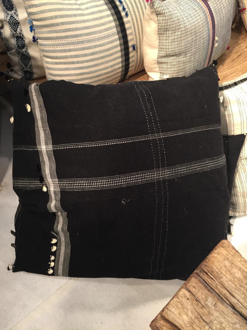 Black oven gloves john lewis - Injiri Black Floor Cushion