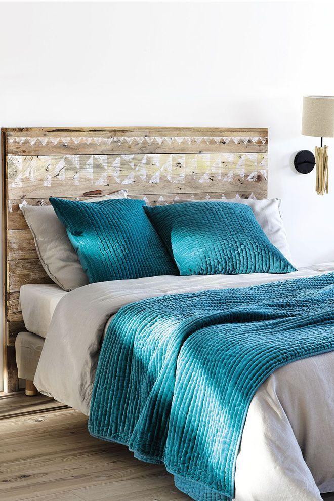 une t te de lit maisons du monde l 39 esprit r cup et diy. Black Bedroom Furniture Sets. Home Design Ideas
