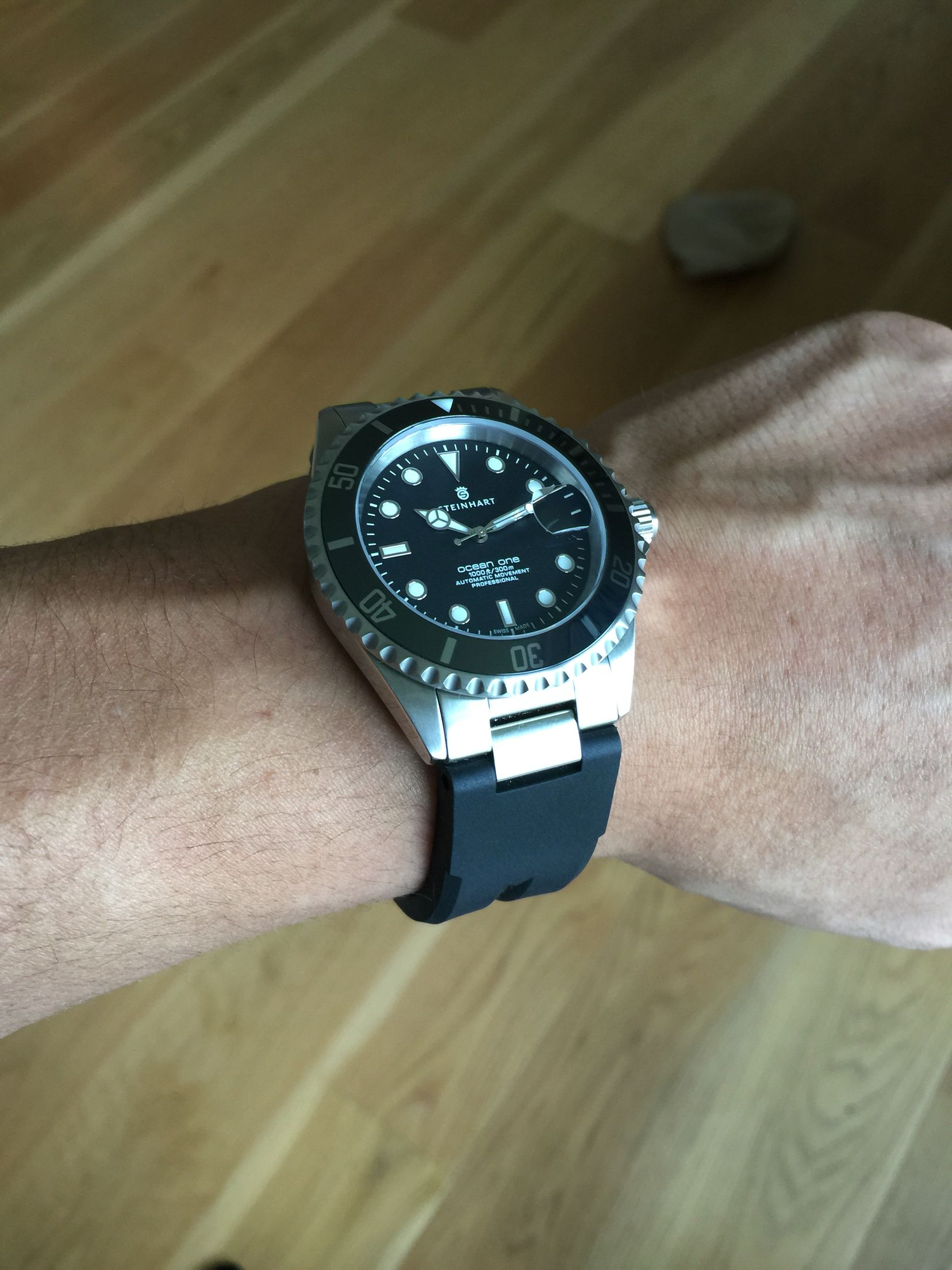 Steinhart Ocean 1 With The Black Ceramic Bezel Inlay And