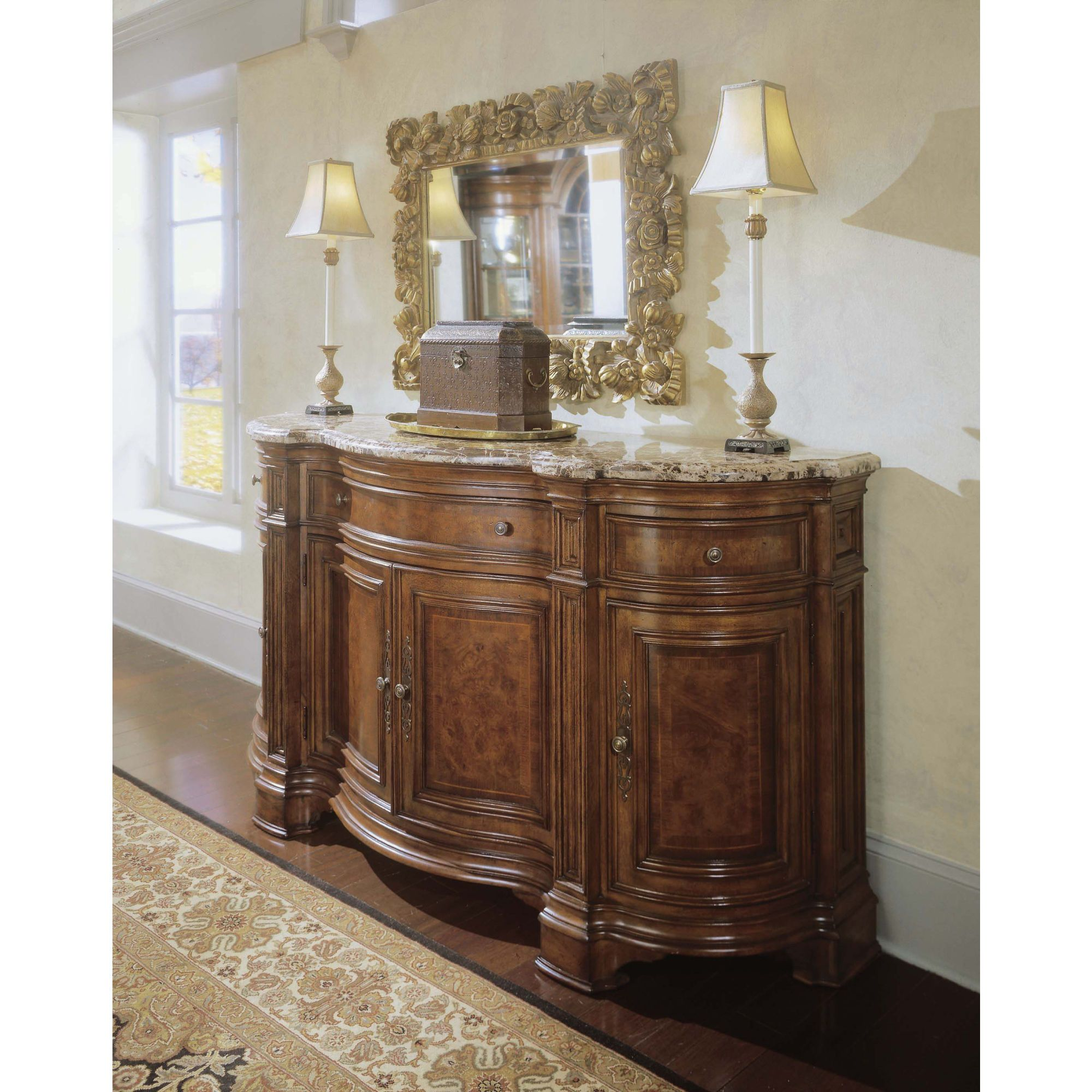 Universal Furniture Villa Cortina Sideboard Credenza With Marble