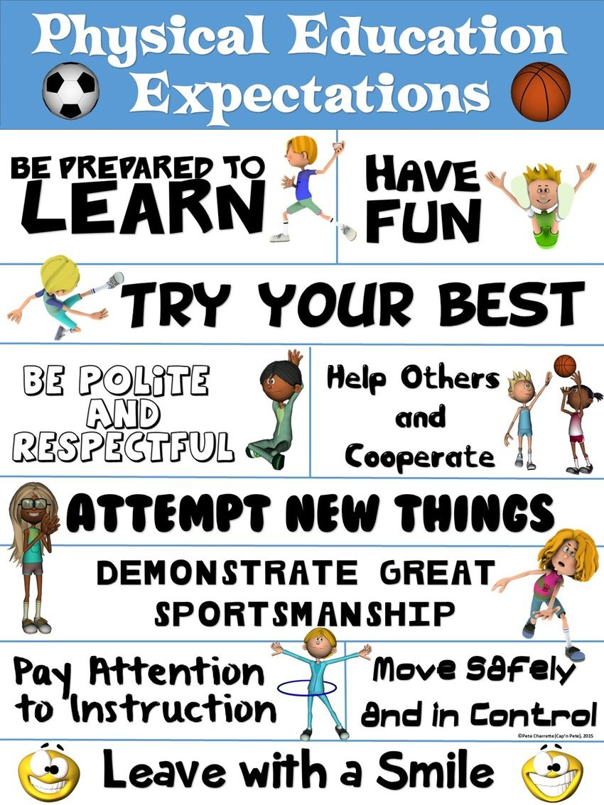 Images About Pe Bulletin Boards And Printables On Pinterest