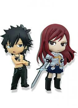 Fairy Tail Pins - Gray and Erza (Set of 2)