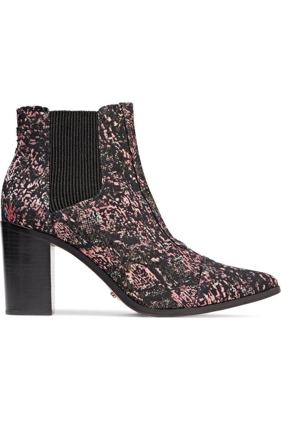 937e402bc SCHUTZ Hapiness metallic jacquard ankle boots. #schutz #shoes ...