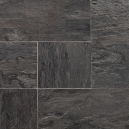 Colours Libretto Black Slate Tile Effect Laminate Flooring 1 86m Pack Image 3