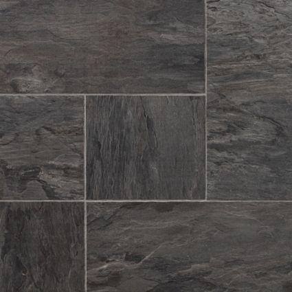 Colours Libretto Black Slate Tile Effect Laminate Flooring 186m