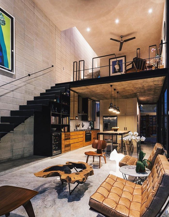 40 Awesome Cozy Loft Apartment Decorating Ideas On A Budget Page 35 Of 40 Latest Fashion Trends For Woman In 2021 Loft Apartment Decorating Loft Interior Design Industrial Home Design