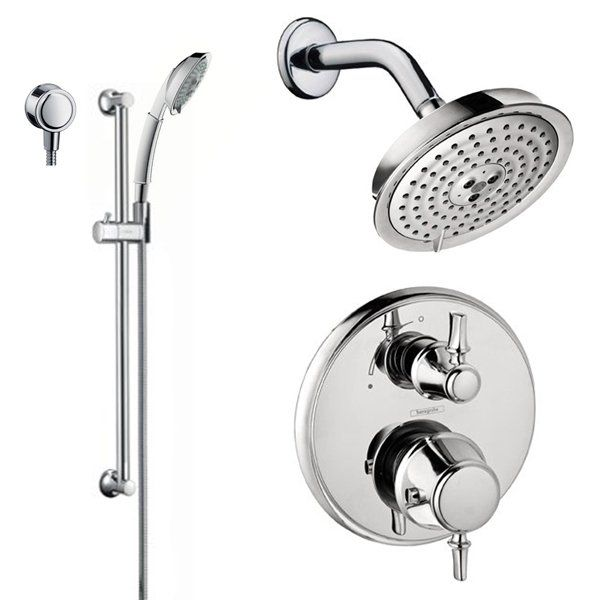 View The Hansgrohe Hg T203 C Shower Faucet With Thermostatic Trim