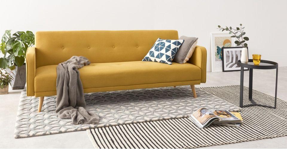 Chou Click Clack Sofa Bed, Butter Yellow   Schlafsofa ...