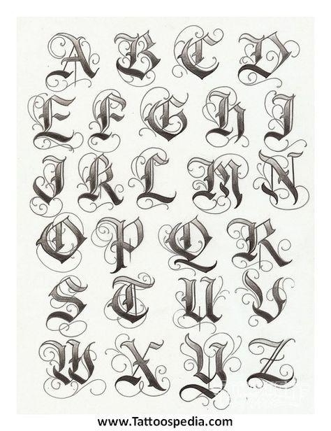 Tribal Tattoo Lettering 1 | skull | Lettering, Lettering styles