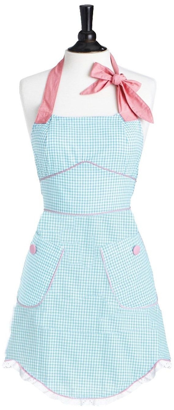Sweet Cupcake Apron Pink Aprons for women This Cupcake Halter Apron is so cool Retro apron with a soft flowing fabric with flowers Great Fit
