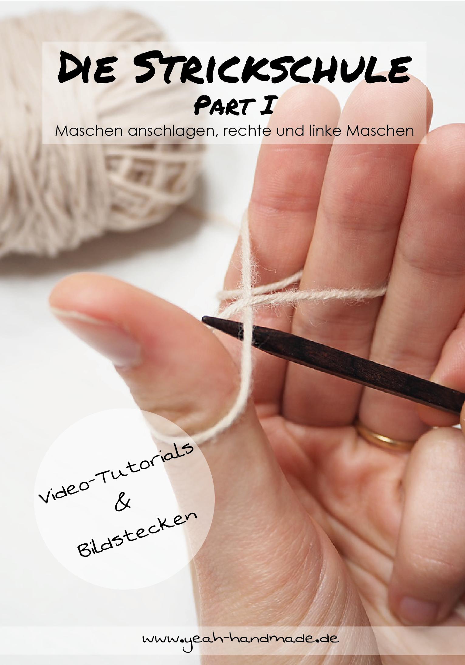 Photo of DIY Die Strickschule Part I – Stricken lernen: Maschen anschlagen, rechte & linke Maschen stricken