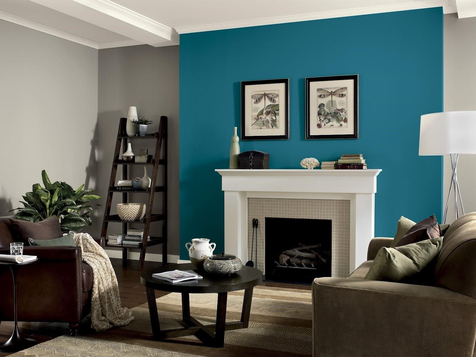 living room neutral living room with turquoise accents on what is a wall id=33154