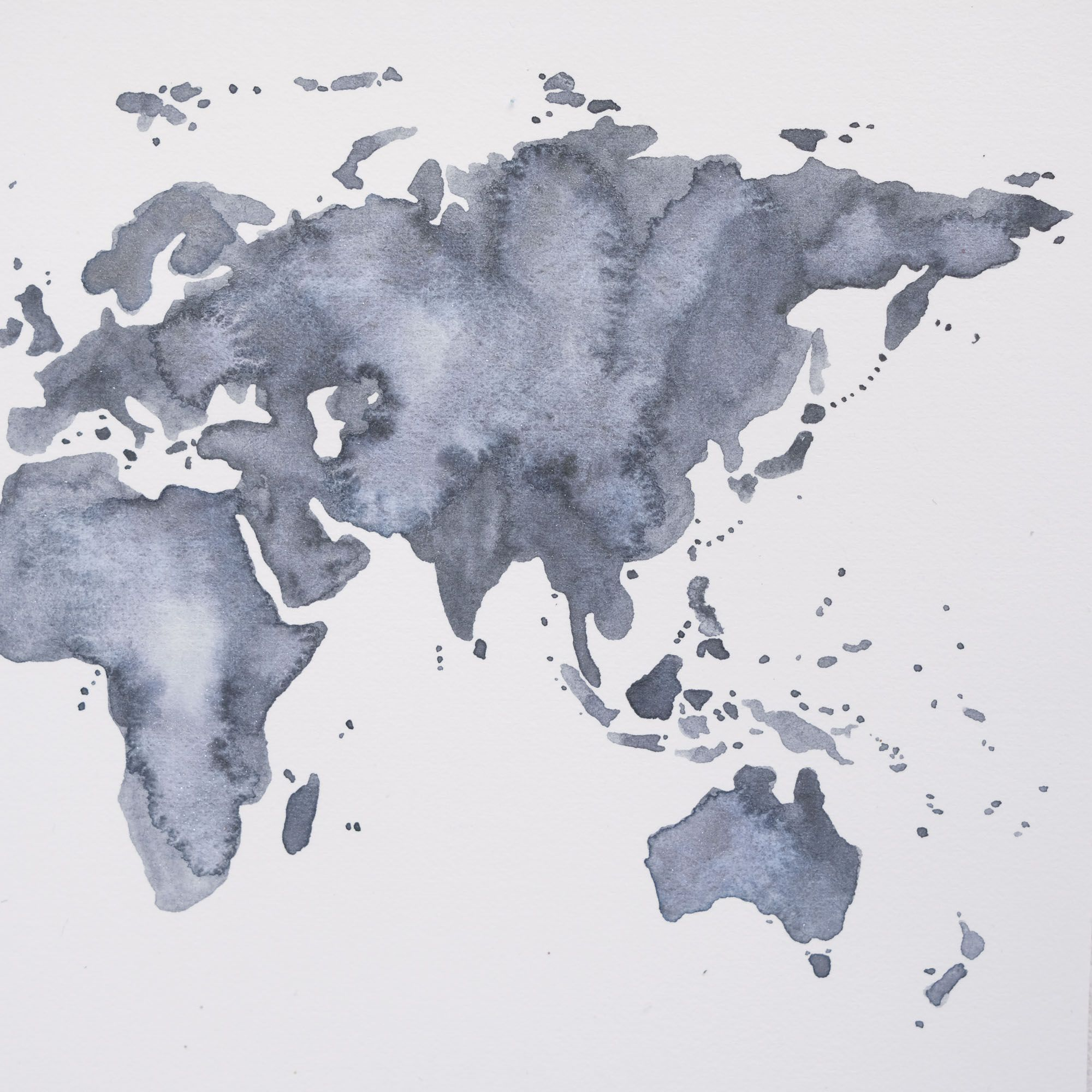 Water Color World Map Image By Joe Terrell On Watercolor Art