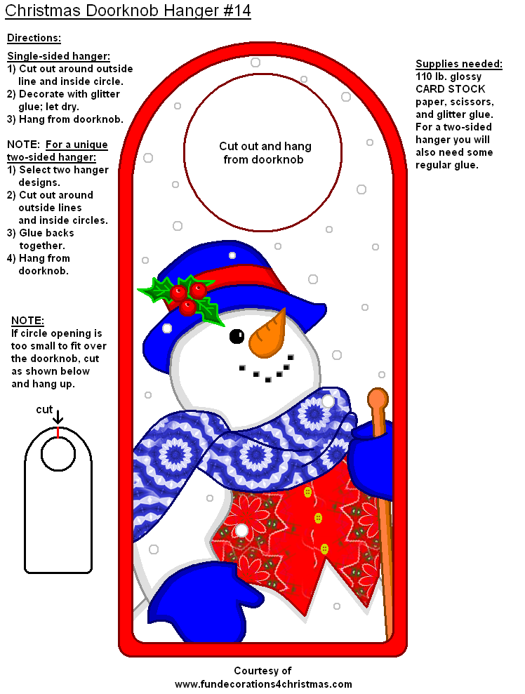Free Printable Christmas Door Knob Hangers Christmas Ideas