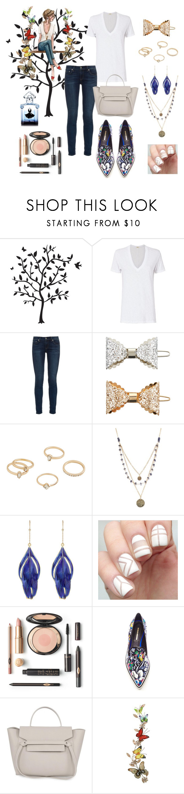 """""""b-fly"""" by lafeur ❤ liked on Polyvore featuring Godinger, Monrow, rag & bone, Accessorize, MANGO, Alicia Marilyn Designs, Aurélie Bidermann, Nicholas Kirkwood, Home Decorators Collection and Guerlain"""