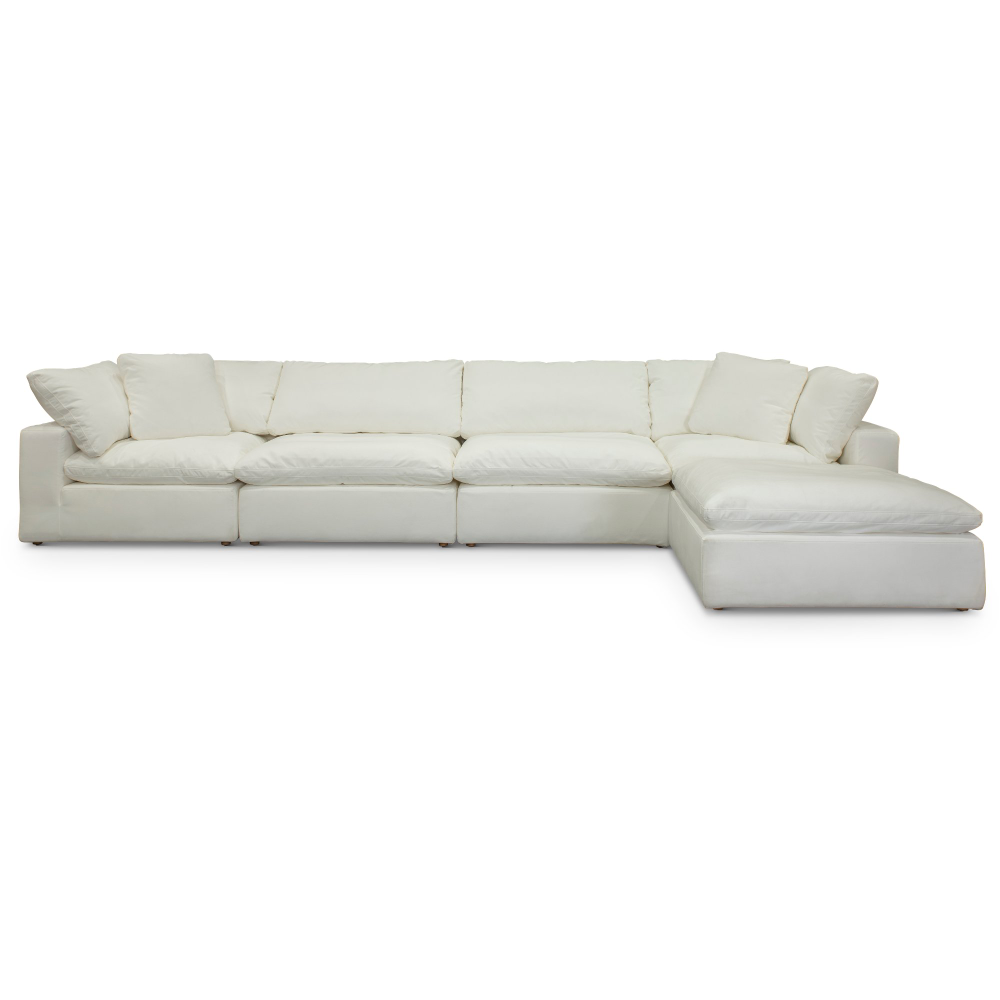 Pearl White 5 Piece Sectional Sofa With Ottoman Peyton Rc Willey Furniture Store In 2020 Sectional Sofa Sectional Ottoman Sofa #rc #willey #living #room #furniture