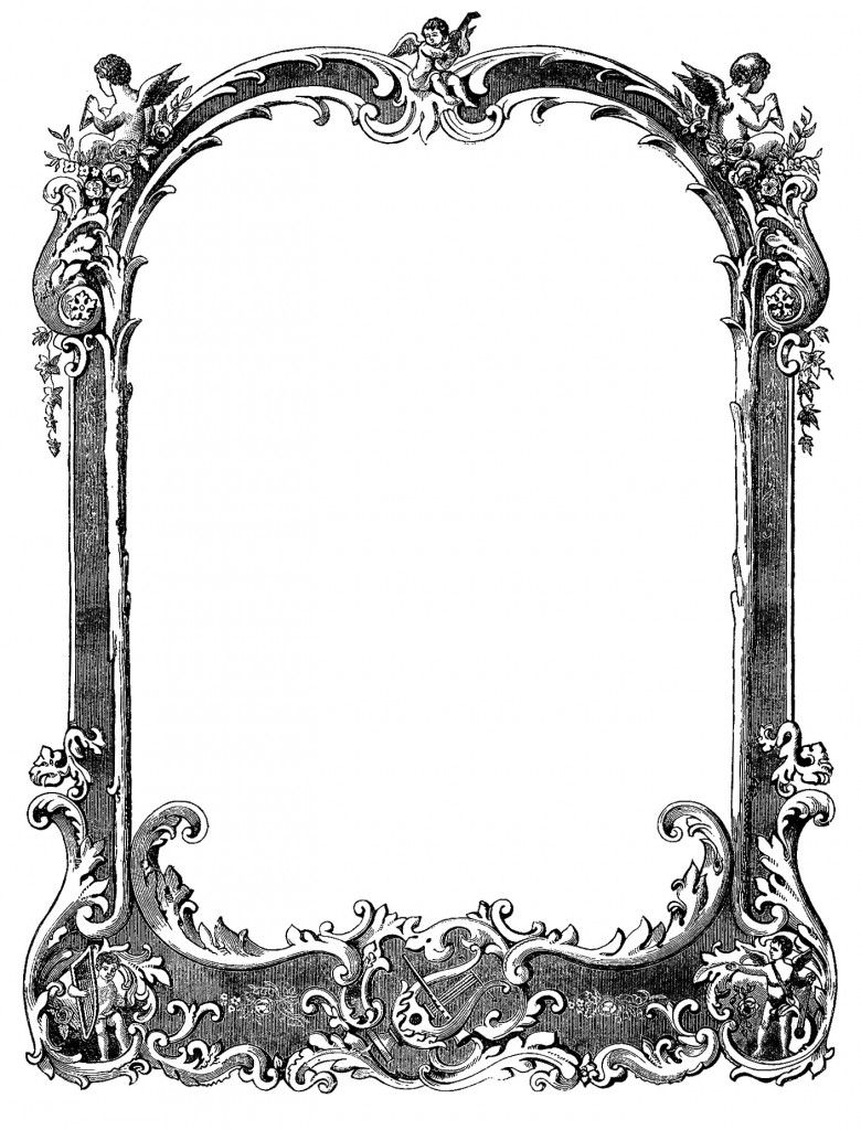 Free Vintage Borders Sourced From Sheet Music Vintage Borders Clip Art Vintage Vintage Frames