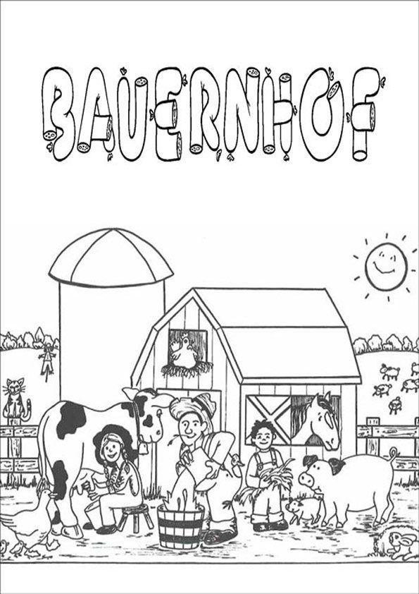 Bauernhof Kostenlose Ausmalbilder Zeichnung Ausmalbilder Bauernhof Thema Bauernhof
