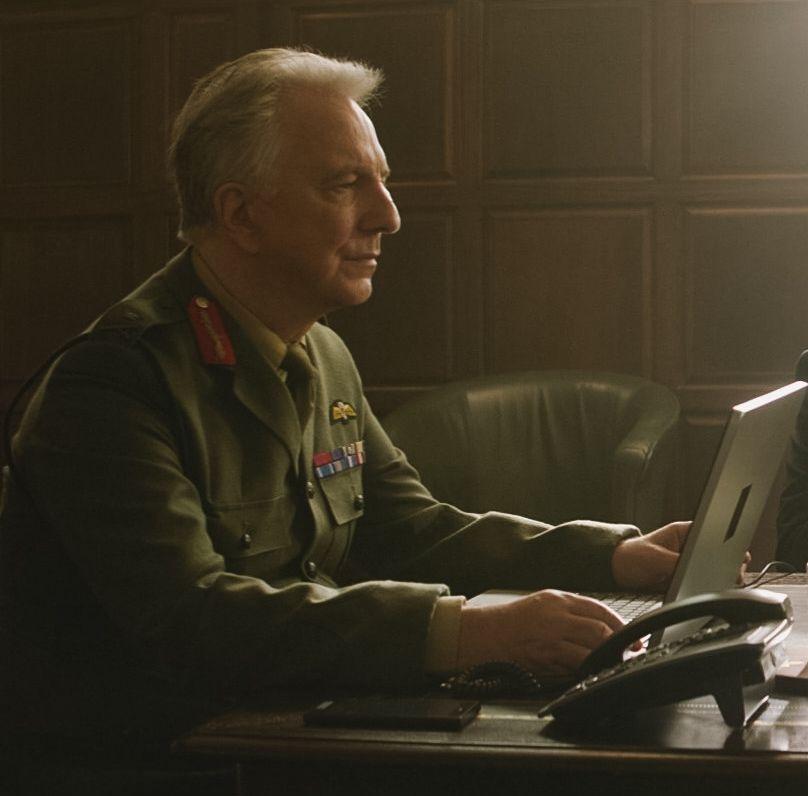 2015 Alan Rickman As Lieutenant General Frank Benson In Eye In The Sky More Alan Rickman Alan Rickman Snape Alan Rickman Always