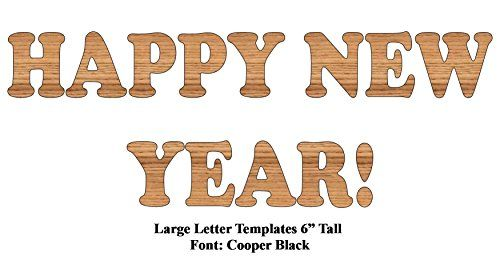 Happy new year large 6 tall mdf letter template set 3mm thick large 6 tall mdf letter template set spiritdancerdesigns Image collections