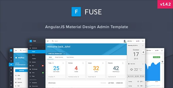 Fuse - Angular 7+ & Bootstrap 4 jQuery HTML Material Design