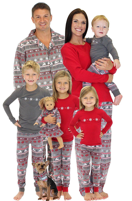 amazoncom sleepytimepjs family matching christmas nordic pajamas pjs sets for the family