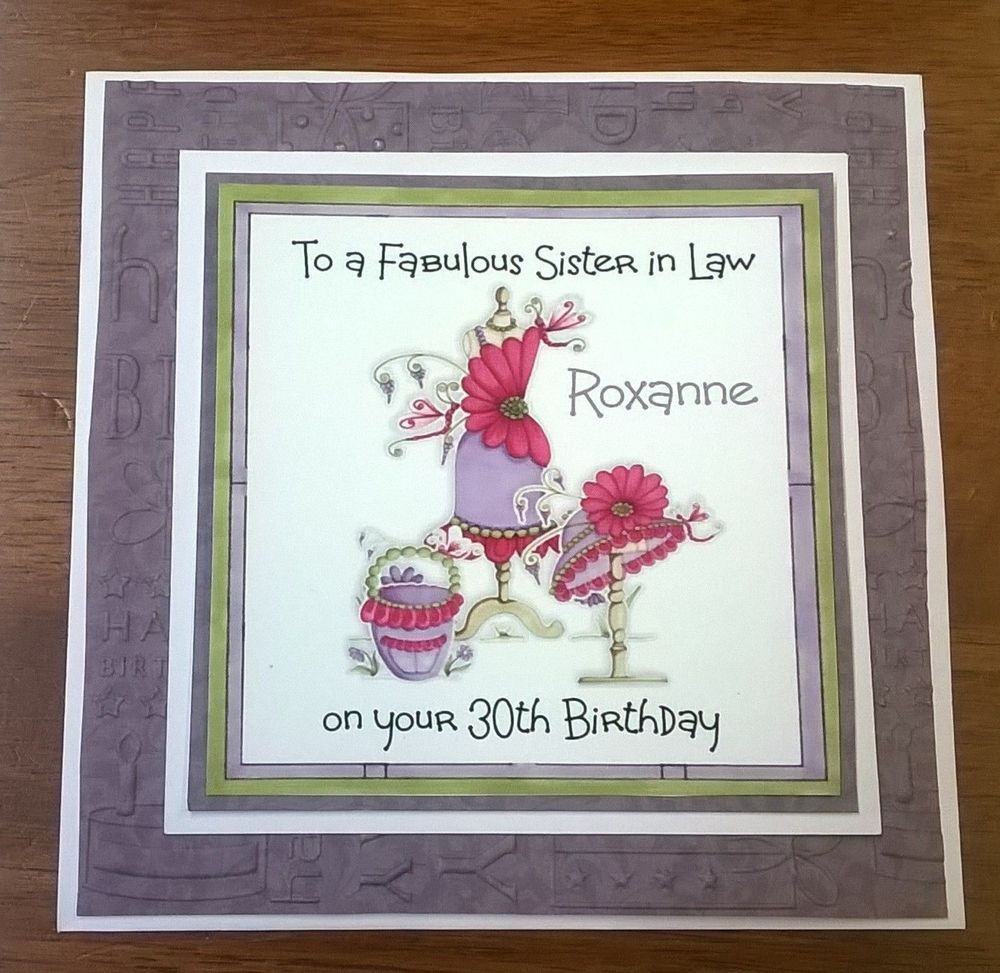 Details about Handmade Personalised Birthday Card Bag Hat Niece – Sister 30th Birthday Card