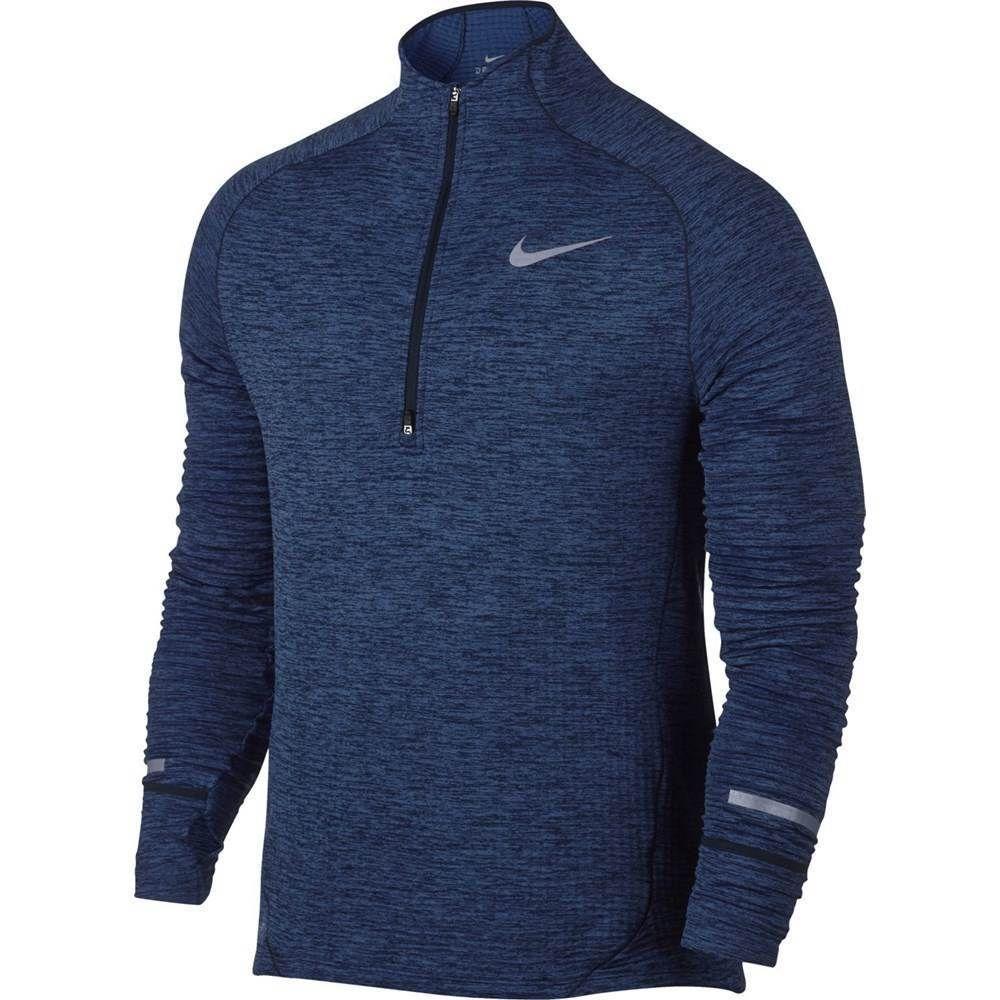 5905fab3ac74f Nike Element Therma Sphere Half-Zip Running Shirt Mens L Binary Blue  Obsidian #Nike #ActivewearLongSleeve