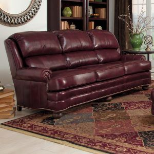 Smith Brothers 311 Leather Sofa