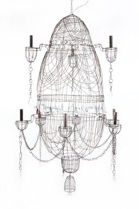 marie christophe lustre chaine fil de fer wire chandelier chandelier et cool lighting. Black Bedroom Furniture Sets. Home Design Ideas