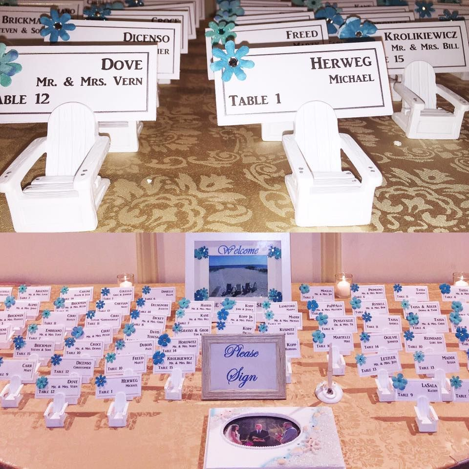 Adirondack Chair Name Card Holders Perfect For A Beach Theme Wedding On