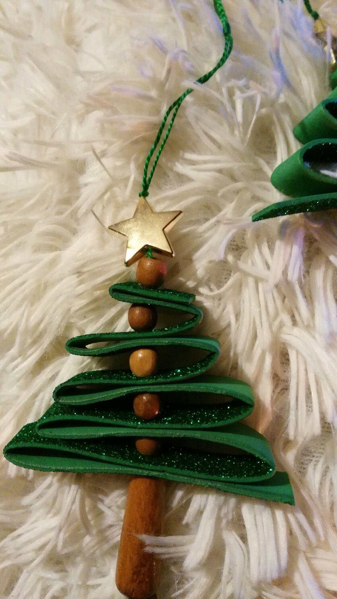 Lavoretti Di Natale Handmade.Alberello Di Natale Gomma Eva Gomma Crepla Handmade Natale E Fai
