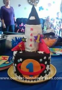 Homemade Rocket Birthday Cake This Included My Sons Own 1st The On Top Came Off To Be His